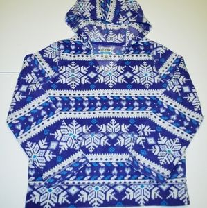 Childrens place purple and white snowflake hoodie